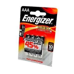 Батарейка Energizer МАХ POWER SEAL LR03/286 BL4